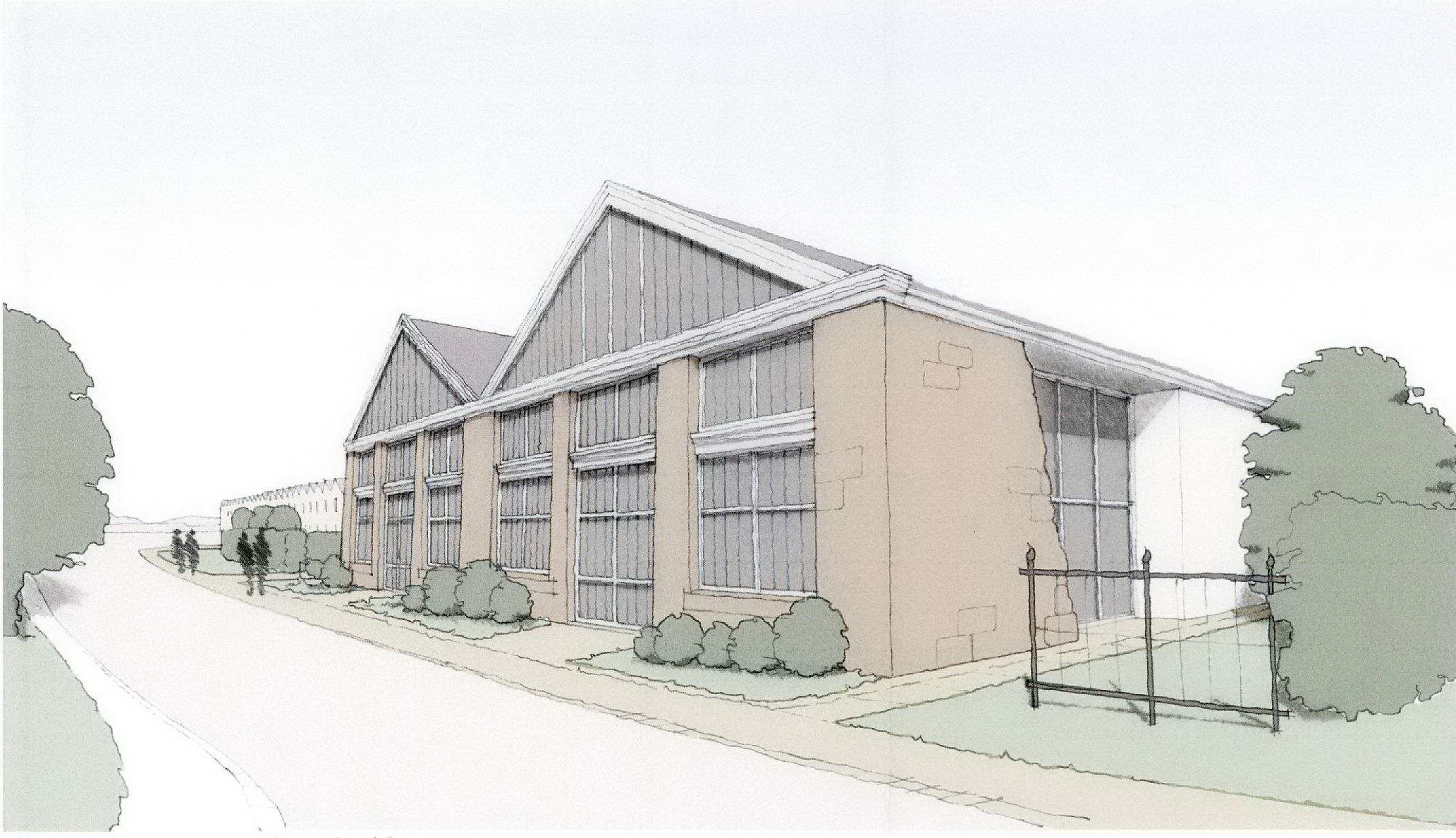 SCHEME:  An artist's impression of how the flats would look, if permission is granted to convert office space at the  Inverurie Loco Works site.