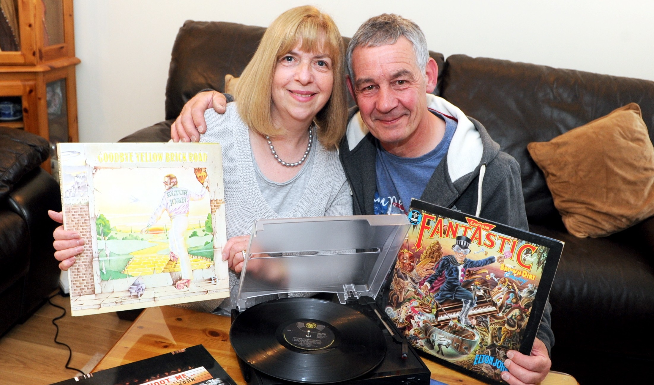 Saturday night's alright:  Caroline and Alastair Taylor can't wait to see Elton John tomorrow.