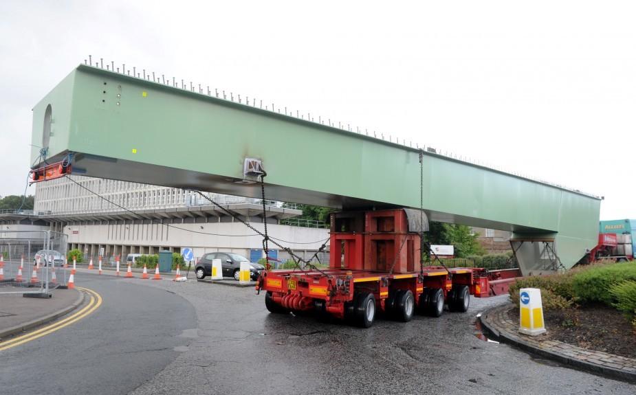 The new bridge of Don works it's way down St Machar Drive.