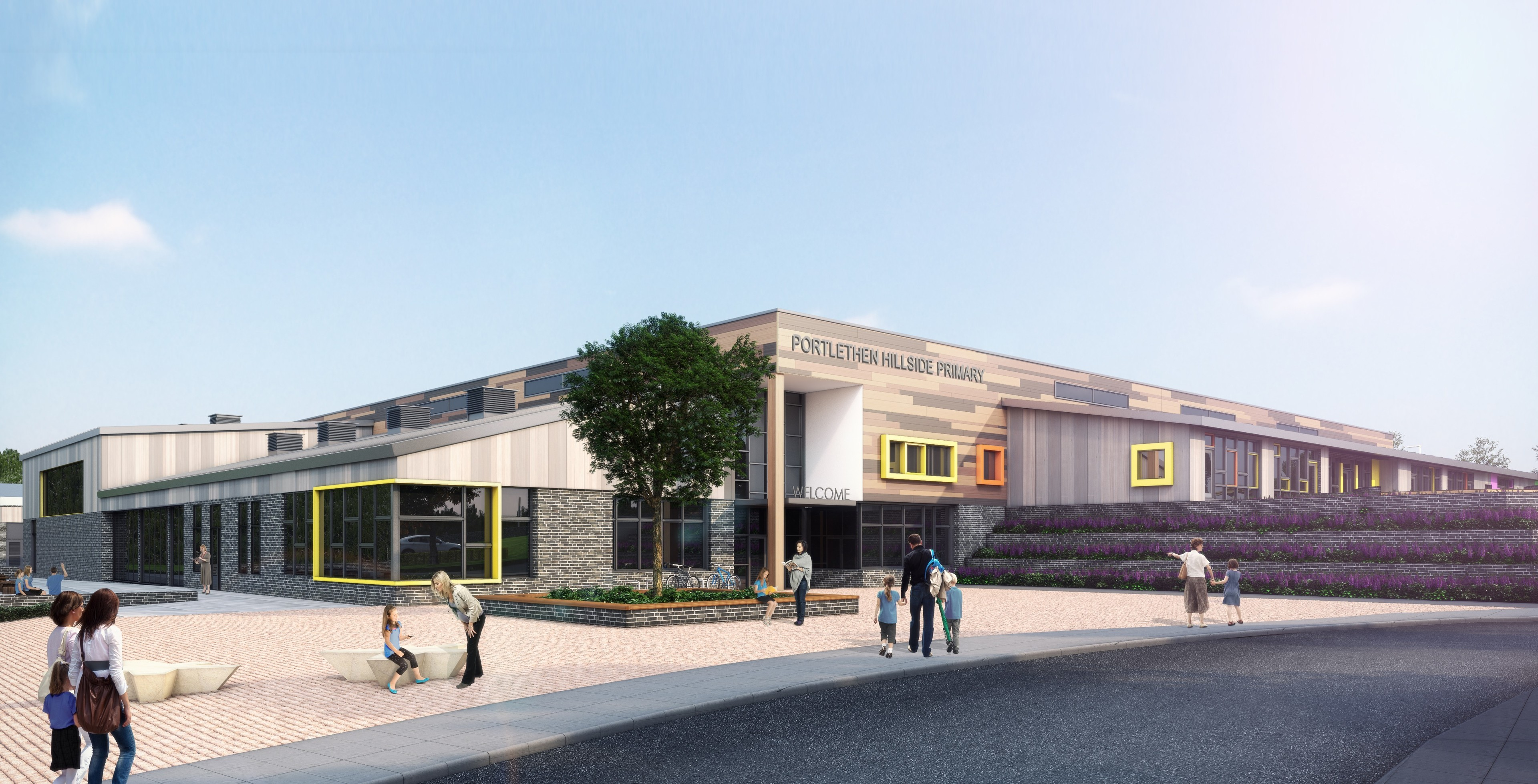 An artist's impression of how the planned new Hillside Primary School would look.