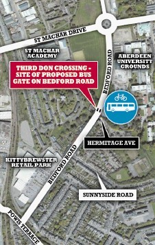 Some of the areas affected by the road changes planned by Aberdeen City Council.