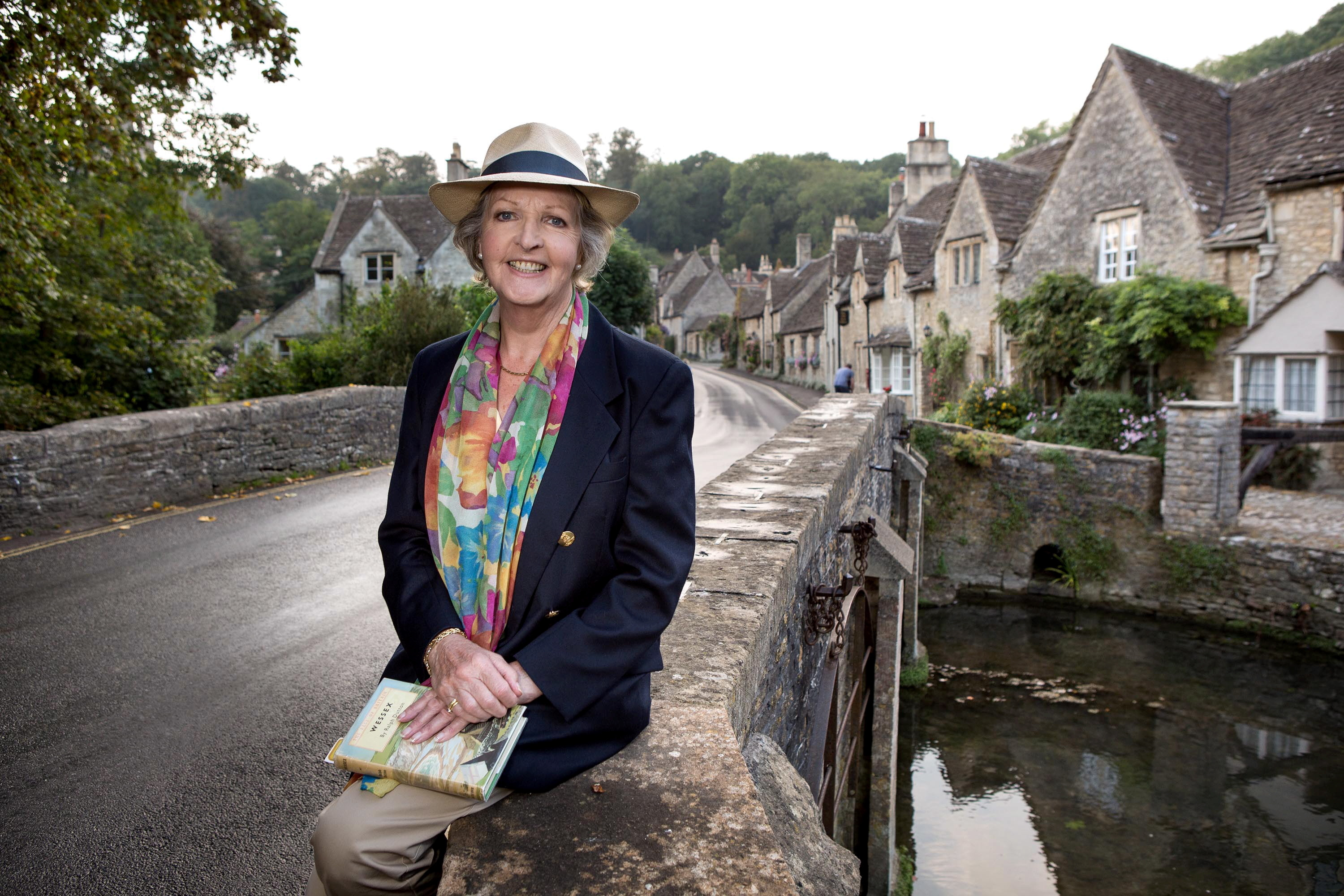 Dame Penelope appearing  in an episode of  the Hidden Villages TV series.