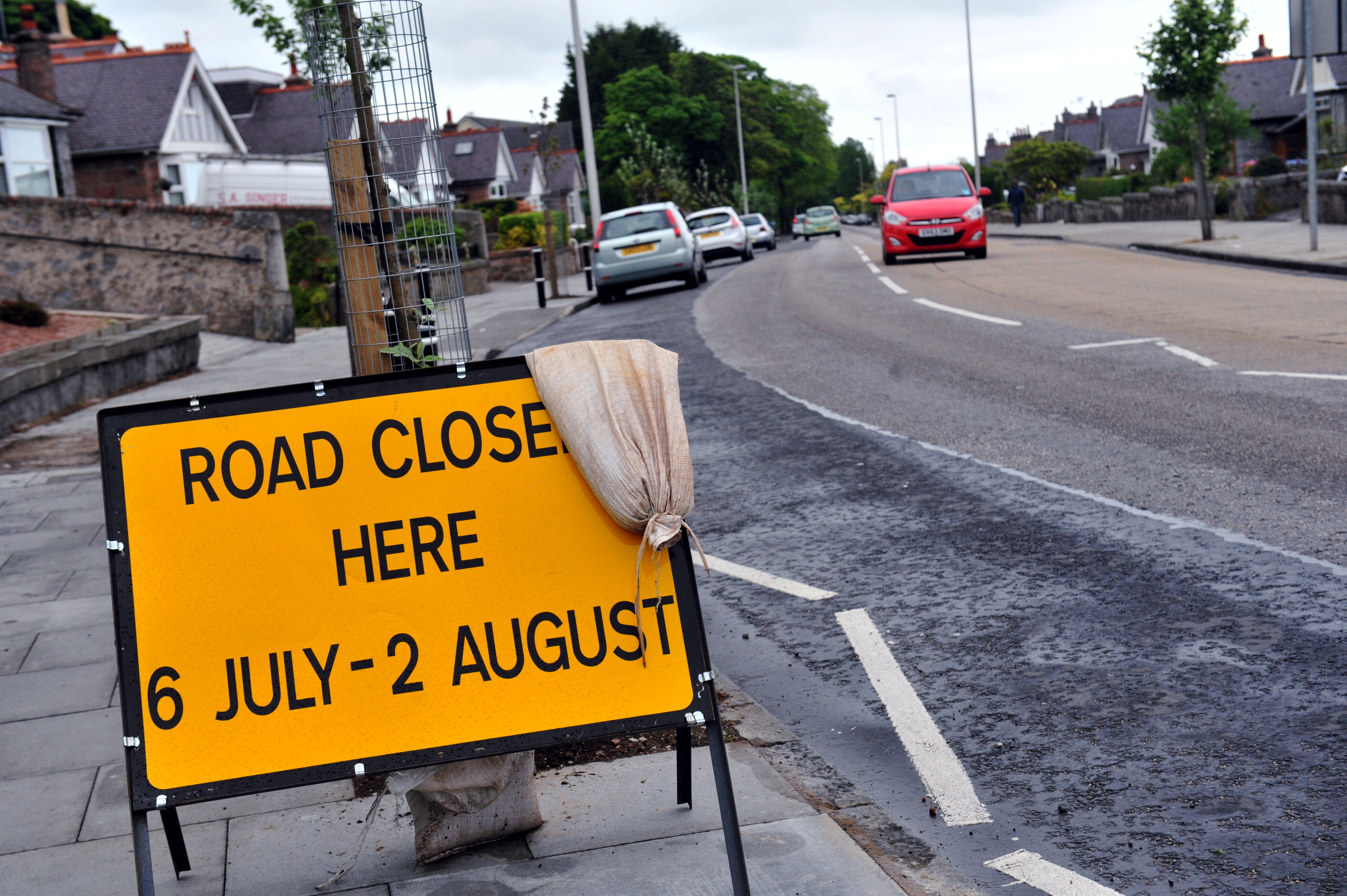 road:    Part of Hilton Street will be restricted to one-way traffic.  picture by heather fowlie