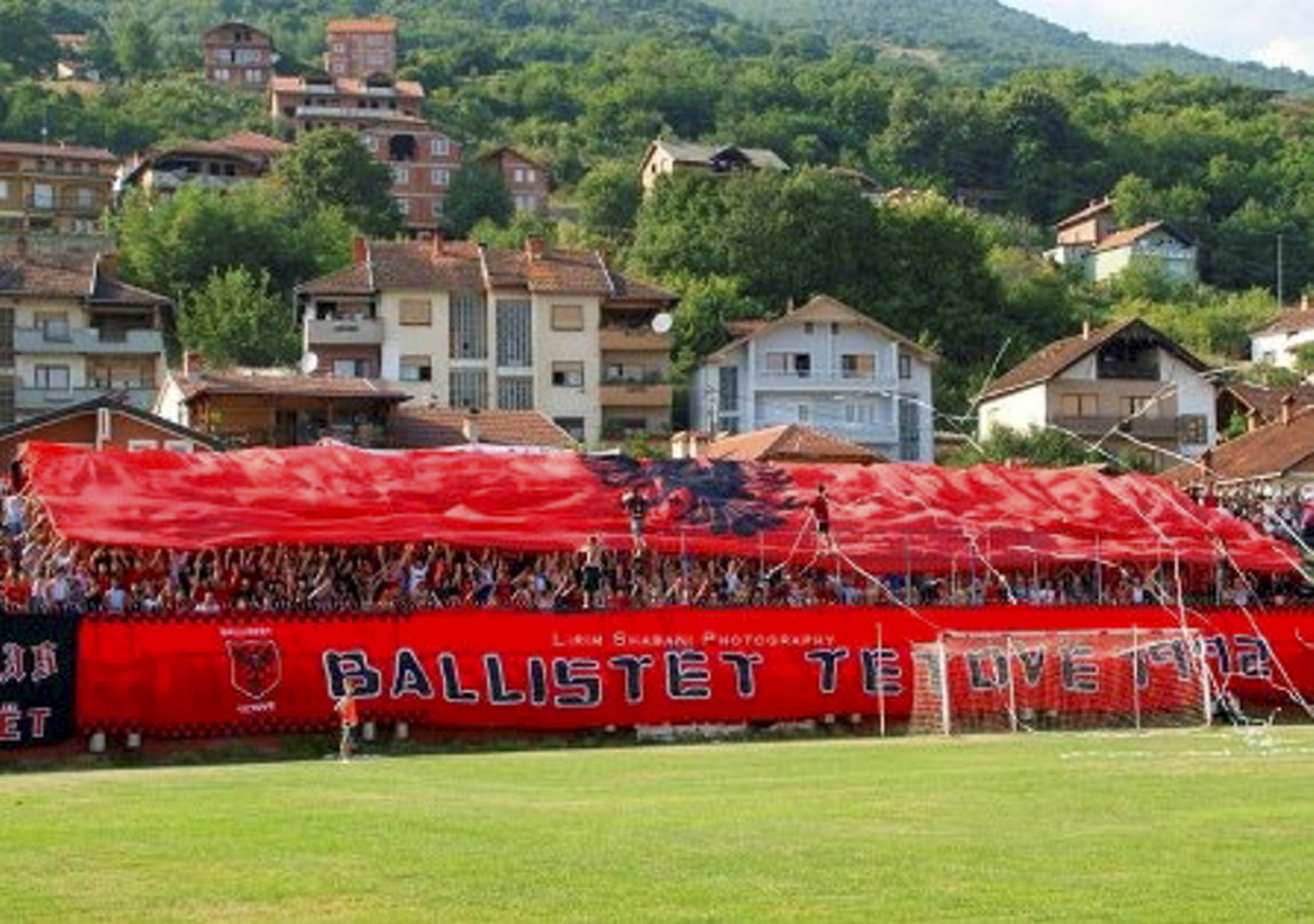 passion: The football club is a 'way of life' for its supporters.  pictures by kf shkendija