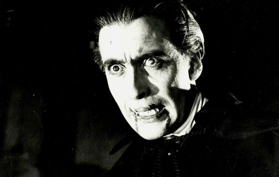 Christopher Lee in the 1958 Hammer Horror production of Dracula