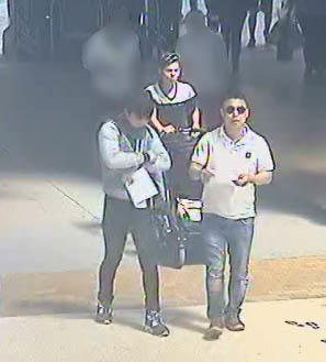 CCTV image released by Police Scotland today.