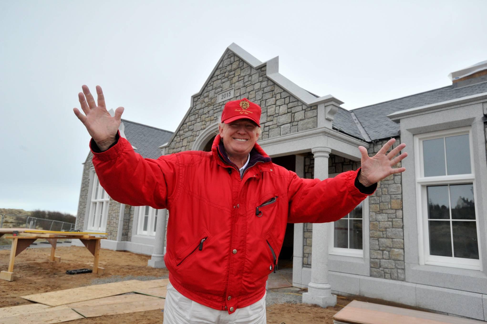 Donald Trump  at the Menie Estate.