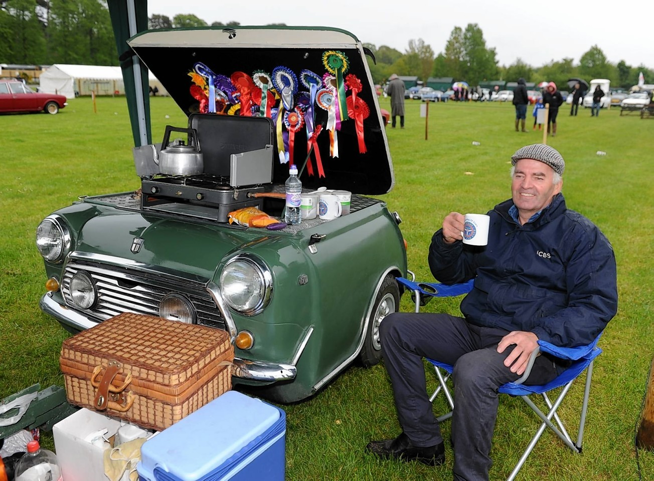 Paul Johnson with his Mini Cooper trailer.