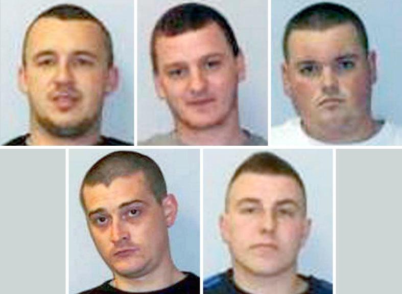 Clockwise from top left:  Michael Clark , Lee Nicol,  Stewart Sutherland, Lee Hulse and Alexander MacPherson