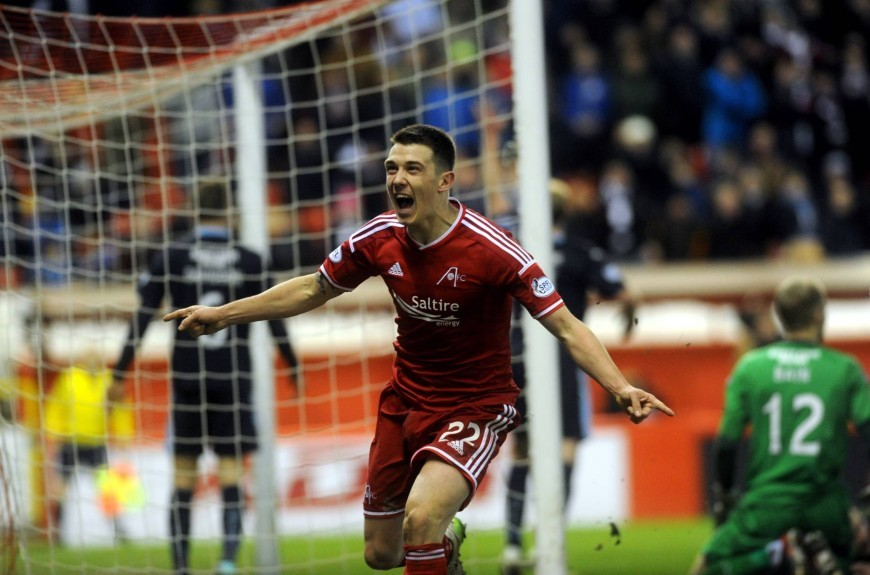 Ryan Jack scored an injury-time equaliser against Dundee at Pittodrie in January.