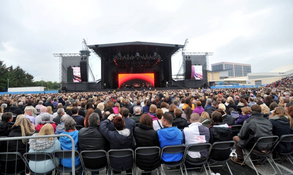 The specially constructed arena could hold 16,000 people