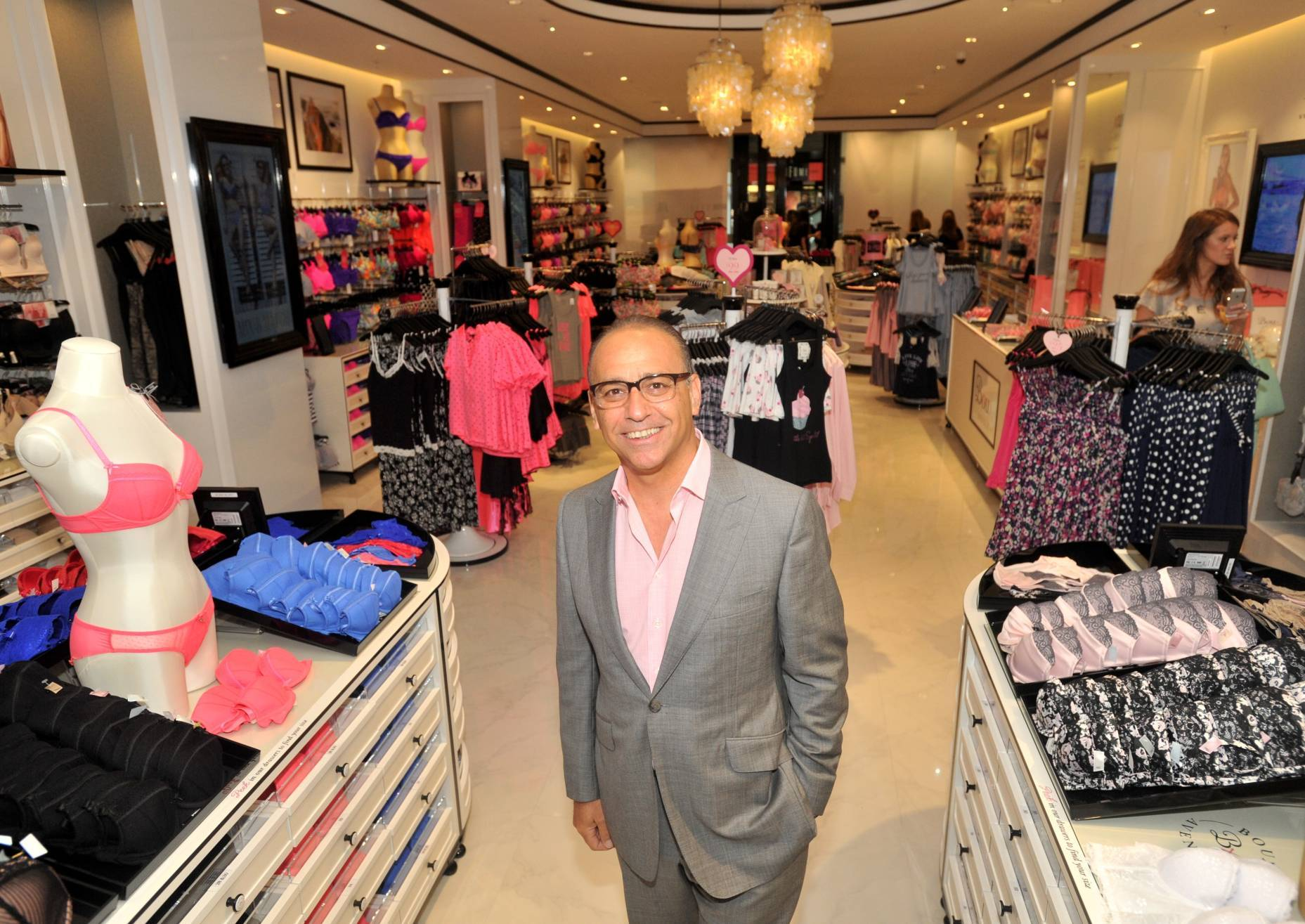 Theo Paphitis in Aberdeen today. Picture by Heather Fowlie.