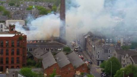 The most recent fire at Broadford Works. Picture by reader Matt Craig.