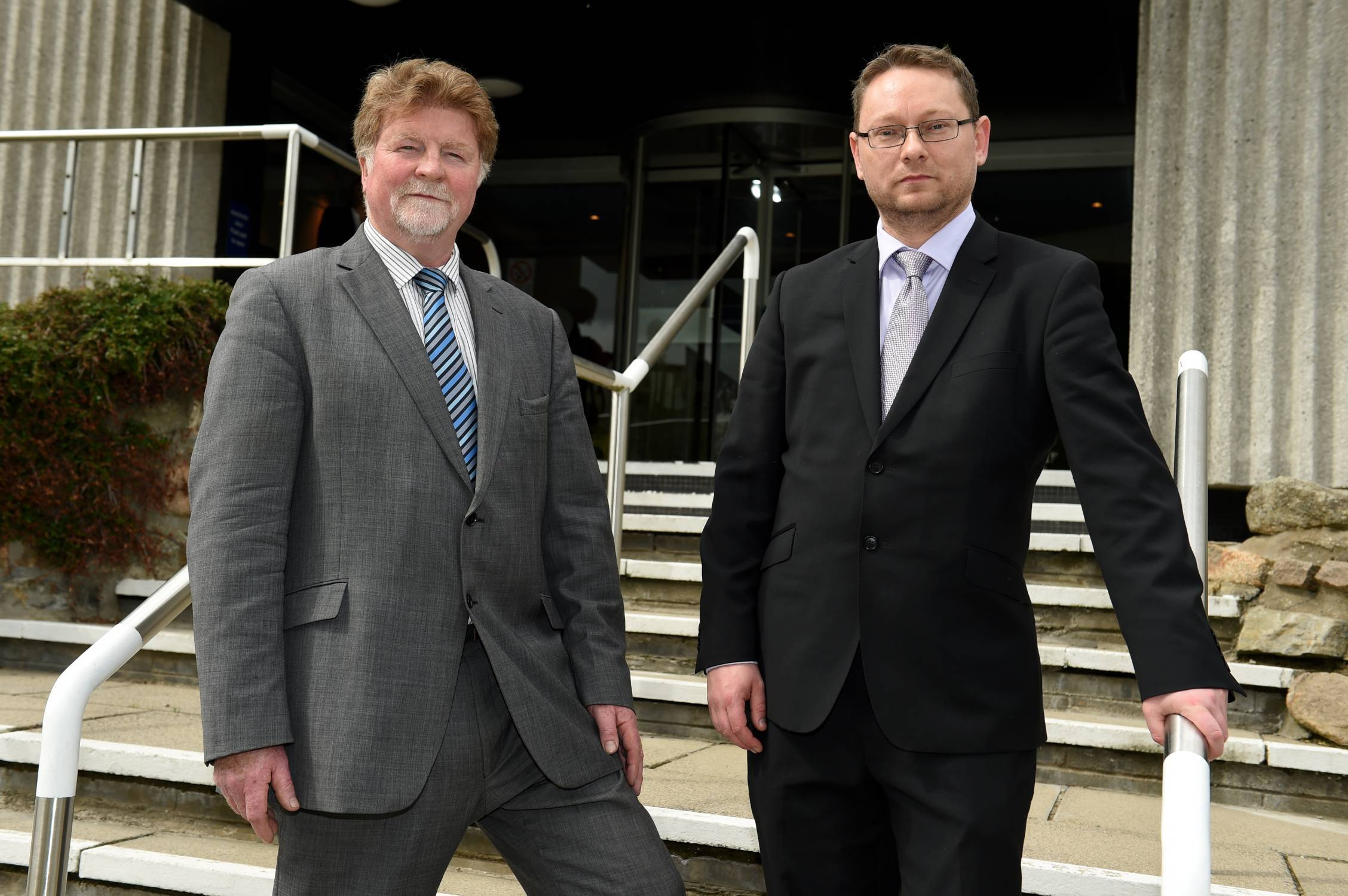New co-leaders of Aberdeenshire Council  Martin Kitts-Hayes, left,  and Richard Thomson.
