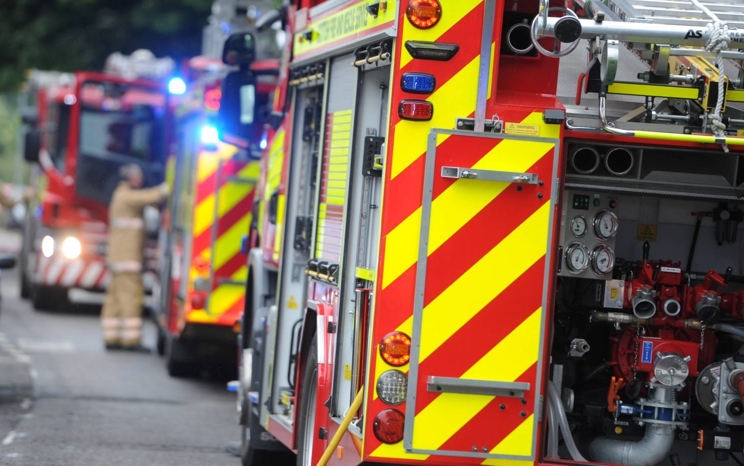 One fire engine was called to the scene.