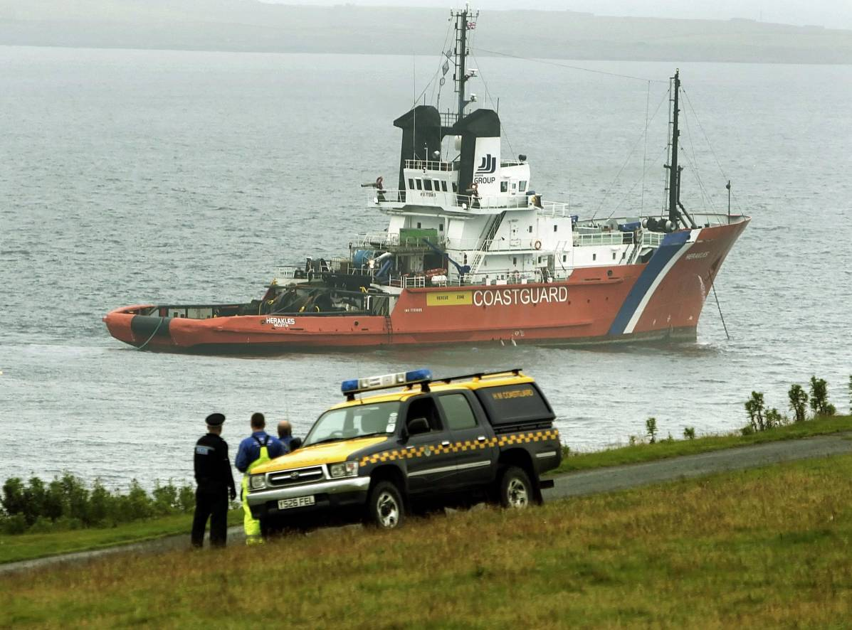 The Super Puma helicopter went down in the North Sea