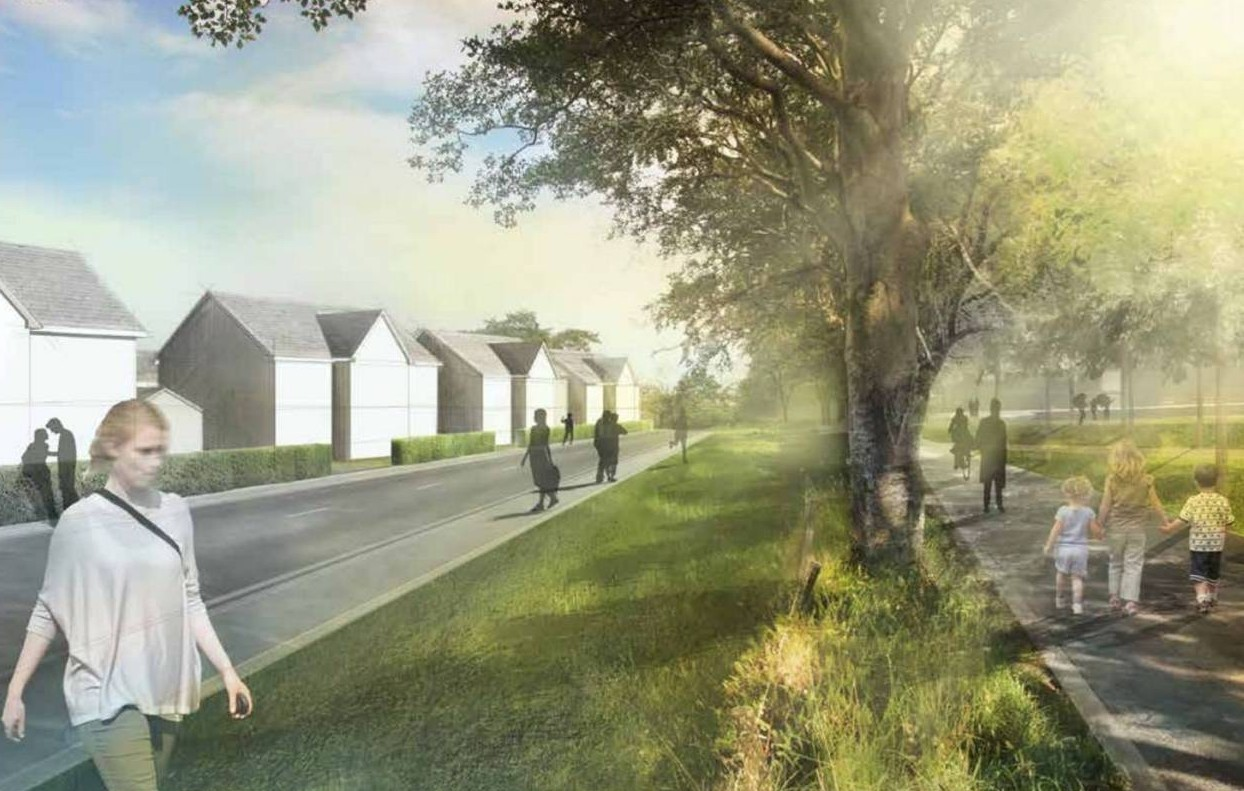 An artist's impression of how the planned housing scheme at Rowett  South.