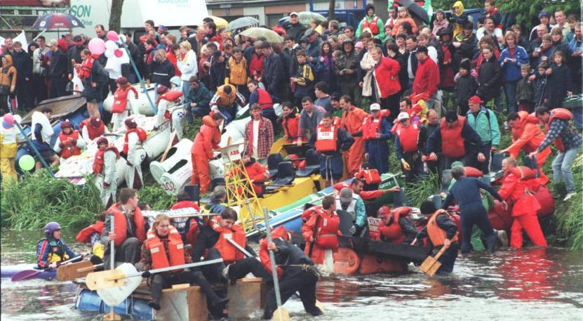 The raft race was ran for 22 years, raising more than £250,000.