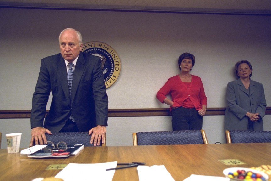 Vice President Dick Cheney pictured with Laura Bush, Lynne Cheney.