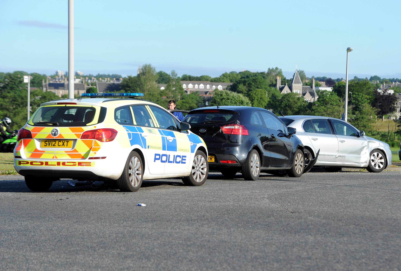 A Skoda and a Kia were involved in the collision.