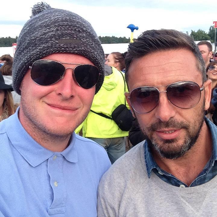 Music fan Jamie Kelly got a selfie with Dons boss Derek McInnes at T in the Park