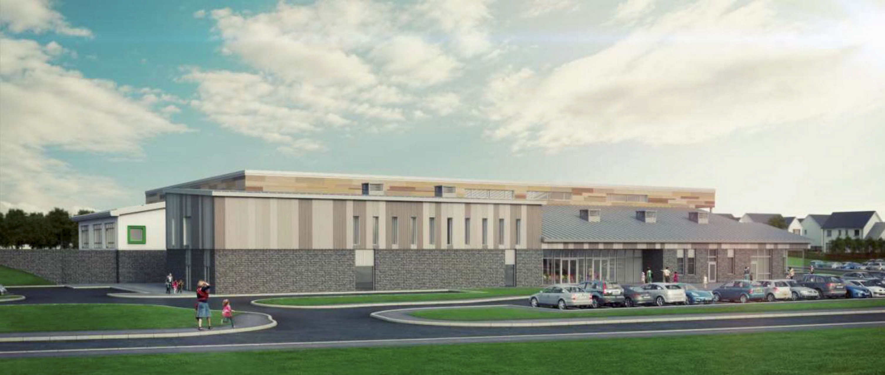An artist's impression of the newly-approved Hillside School