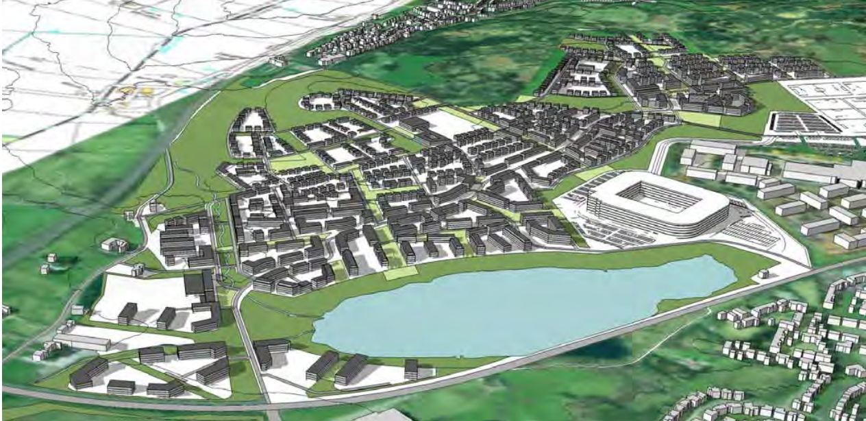 DESIGN: Artist's impressions show how the new development could look.