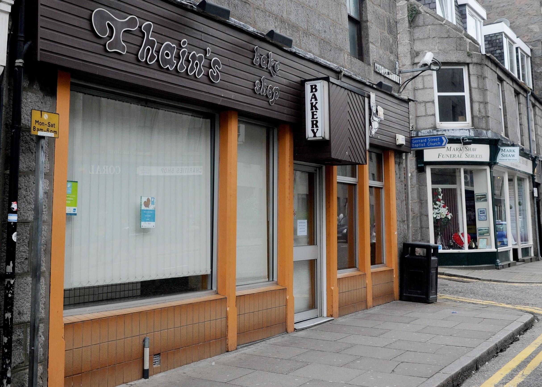 Thain's bakery in George Street.