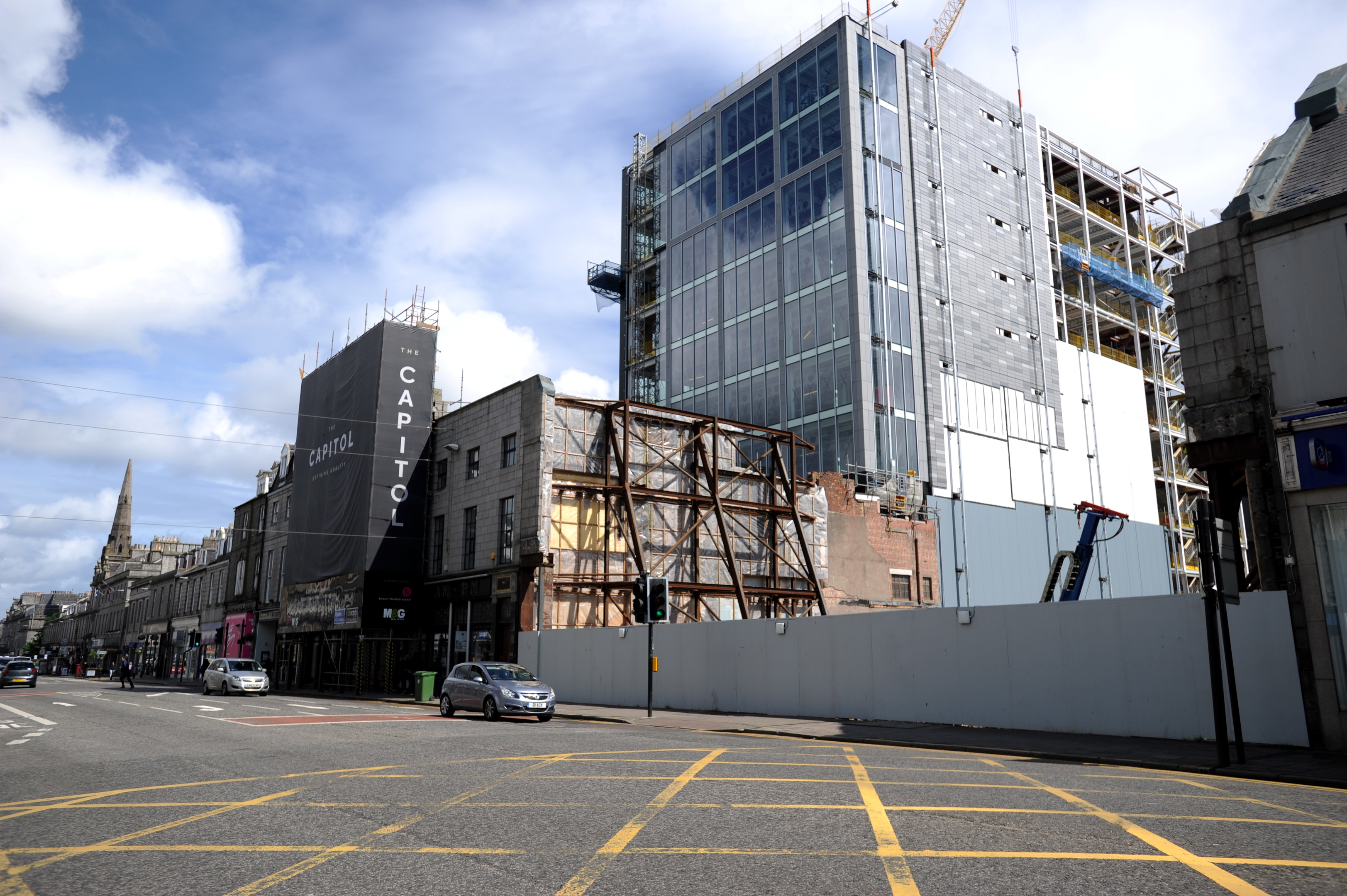 Work is under way on the Silver Fin development, next to the former Capitol Theatre