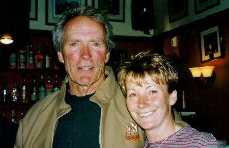 make my day:  Sheena with mega-star Clint Eastwood.