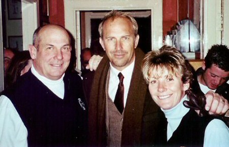 The Willoughbys with Kevin Costner.