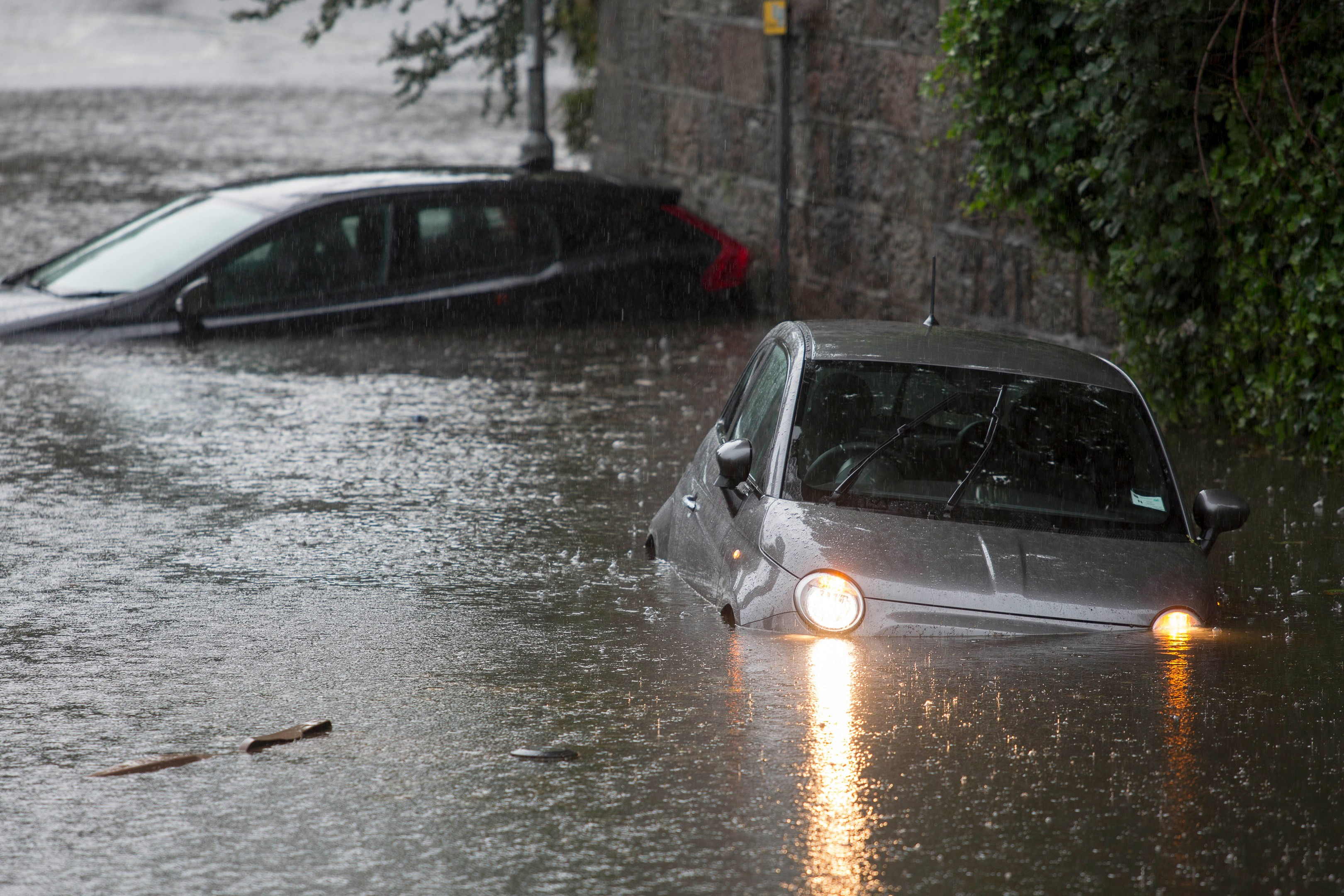 Flooding hit Aberdeen streets after torrential rain on July 7.