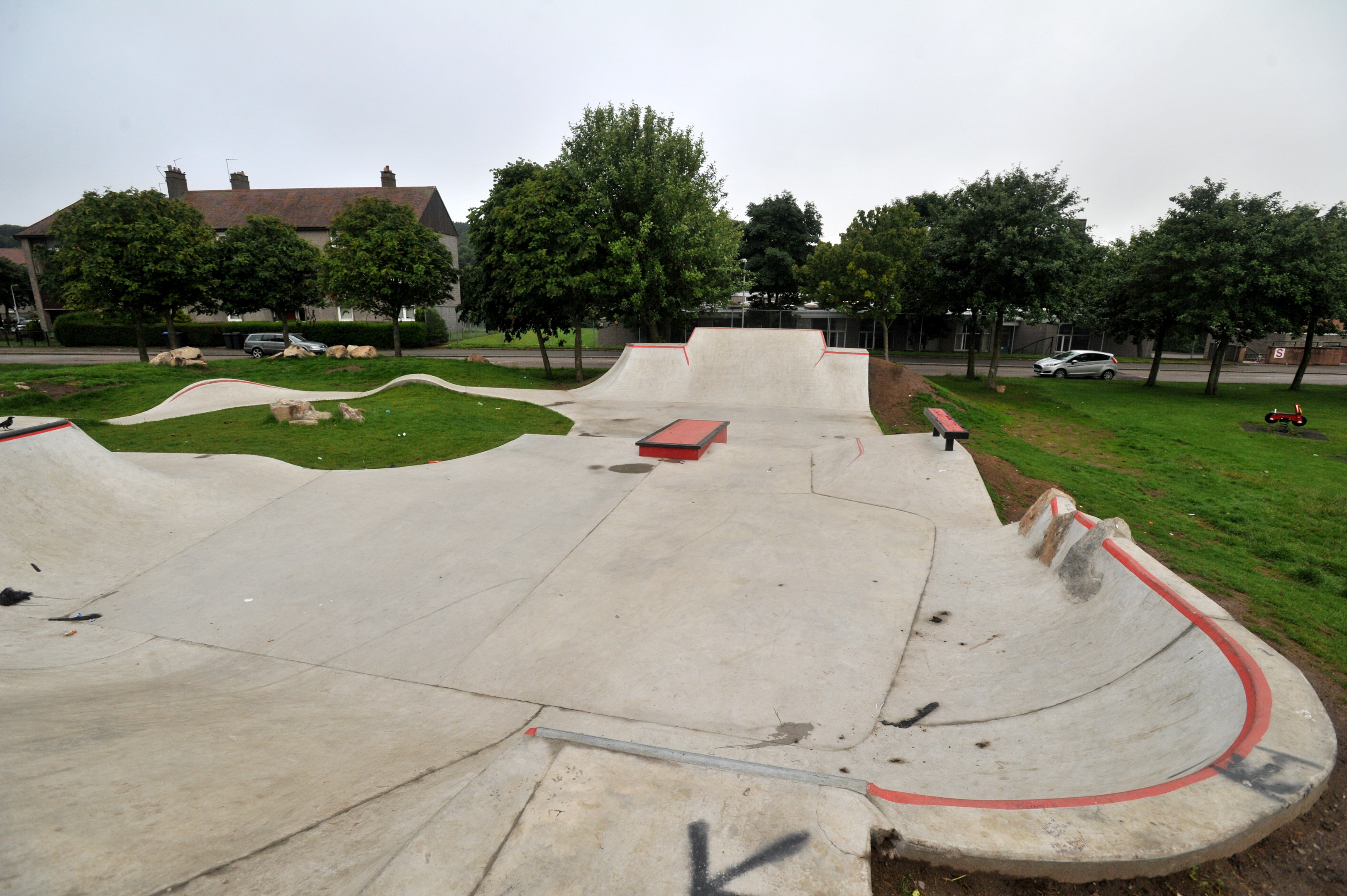 A new skate park has been built at Kincorth Circle in Aberdeen.