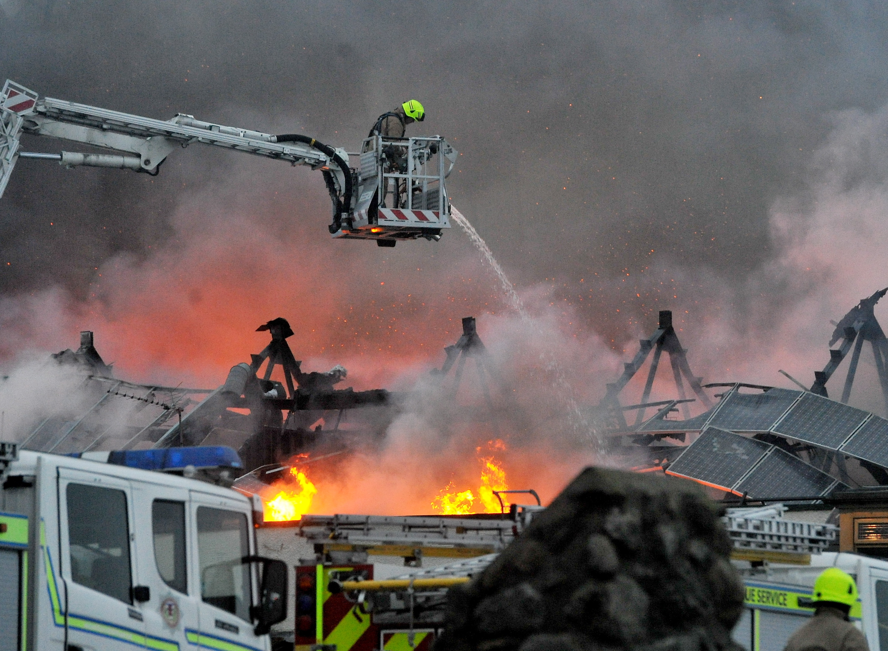 Aberdeen Beach was engulfed by smoke after Jimmy Chungs restaurant on the beach front has caught fire.