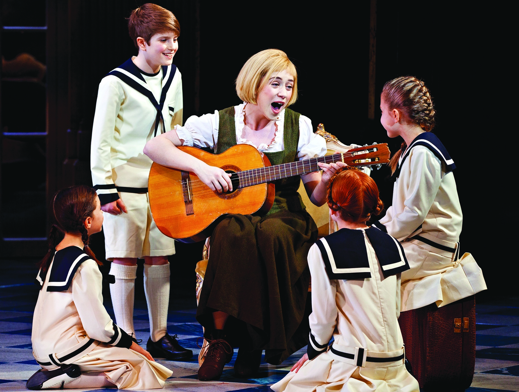 A scene from the upcoming Sound of Music production.