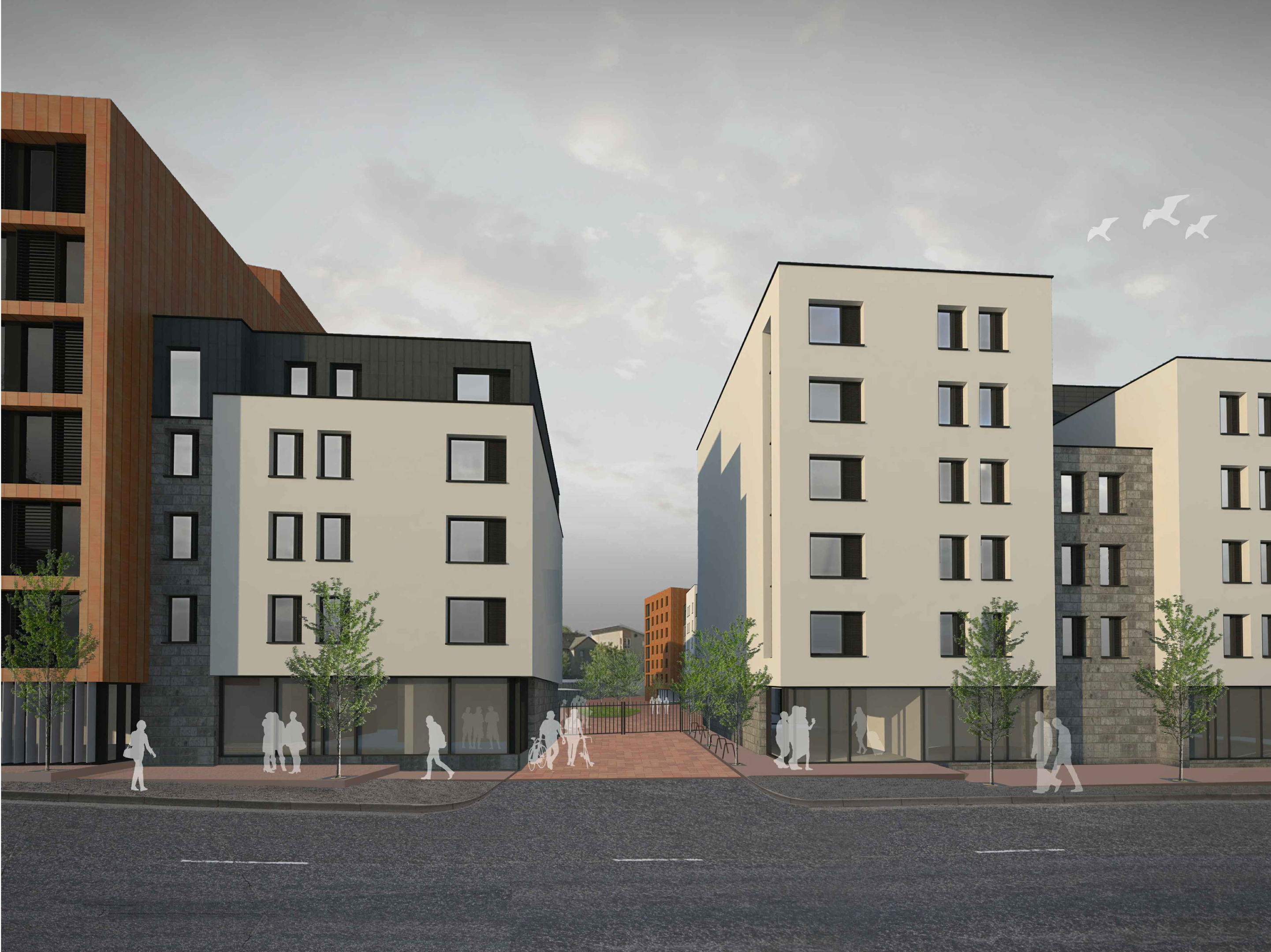 An artist's impression of how the planned student accommodation  could look.