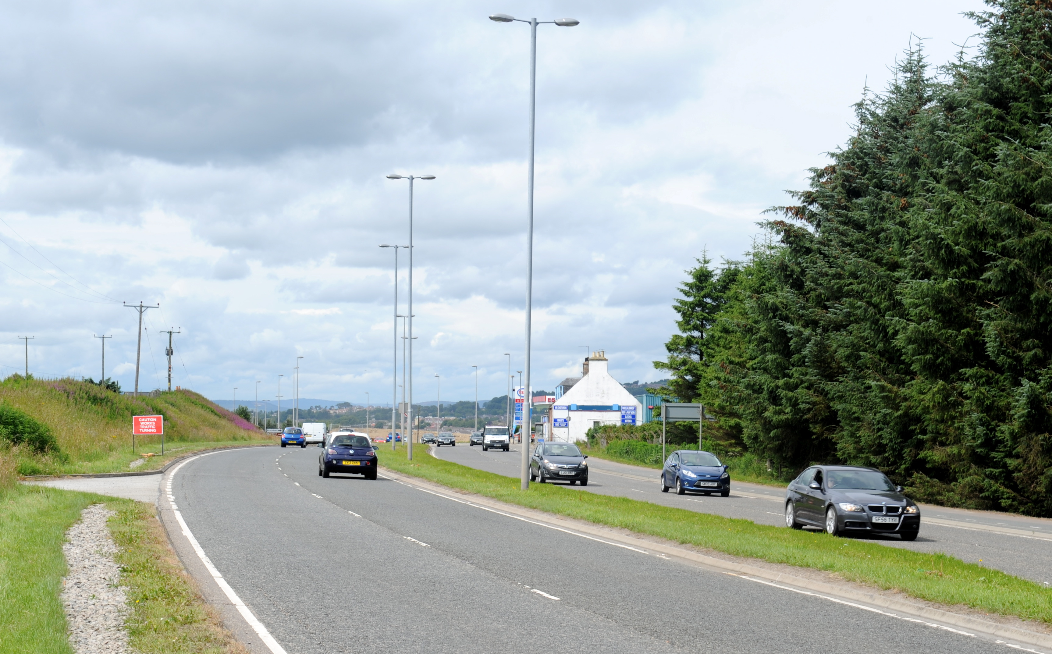 The A944 Kingswells to Westhill road