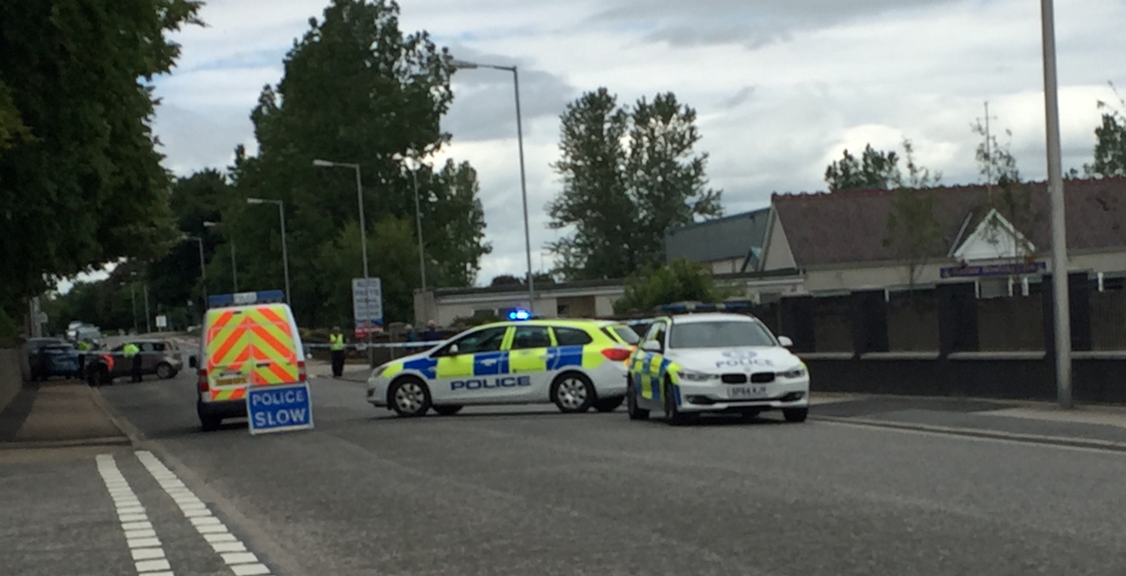 Two cars were involved in the crash on Harlaw Road in Inverurie.