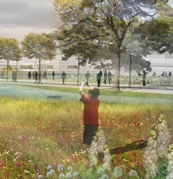 Artist impression of the Loch of Loirston site .