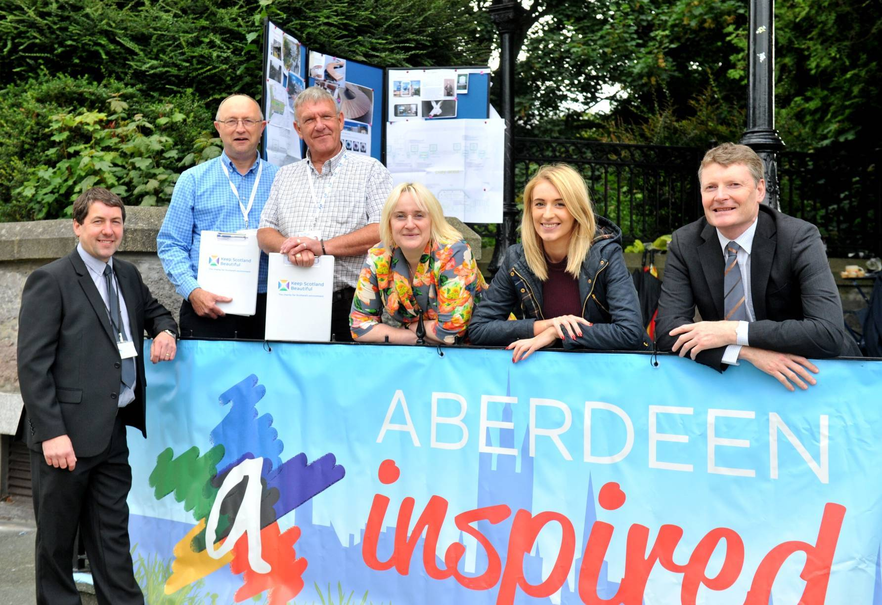 Business organisation Aberdeen Inspired has carried out a civic pride campaign throughout Aberdeen city centre.