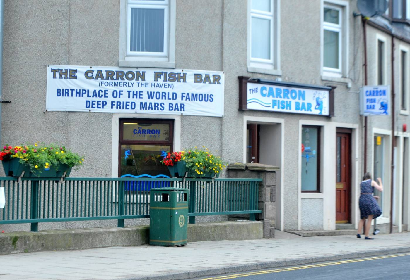The Carron Fish Bar in Stonehaven has been asked to take down their sign advertising  fried Mars bars.