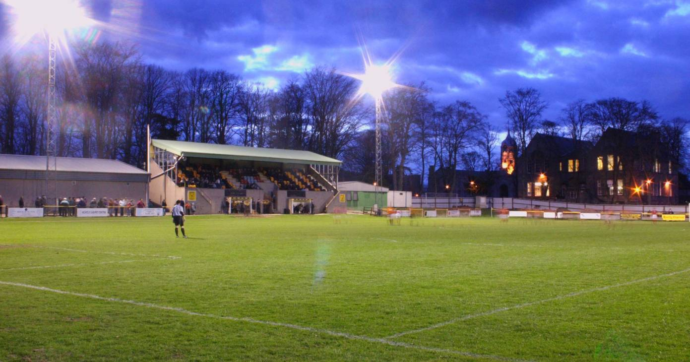 Huntly's Christie Park, where Allan Hale is the new manager.