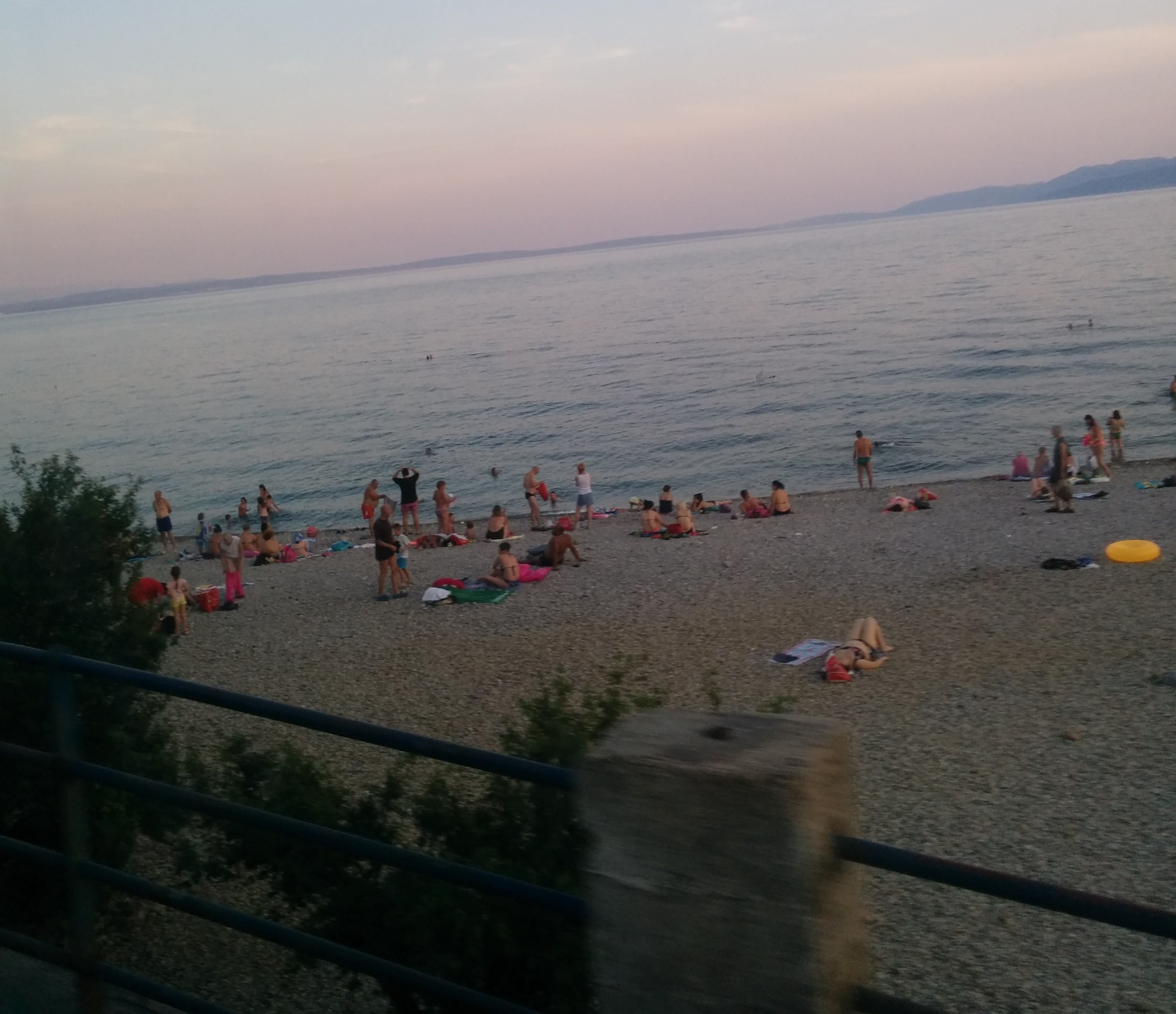 The Dons fans were  expected to gather at the small beach situated just a few yards from the gates of the stadium.