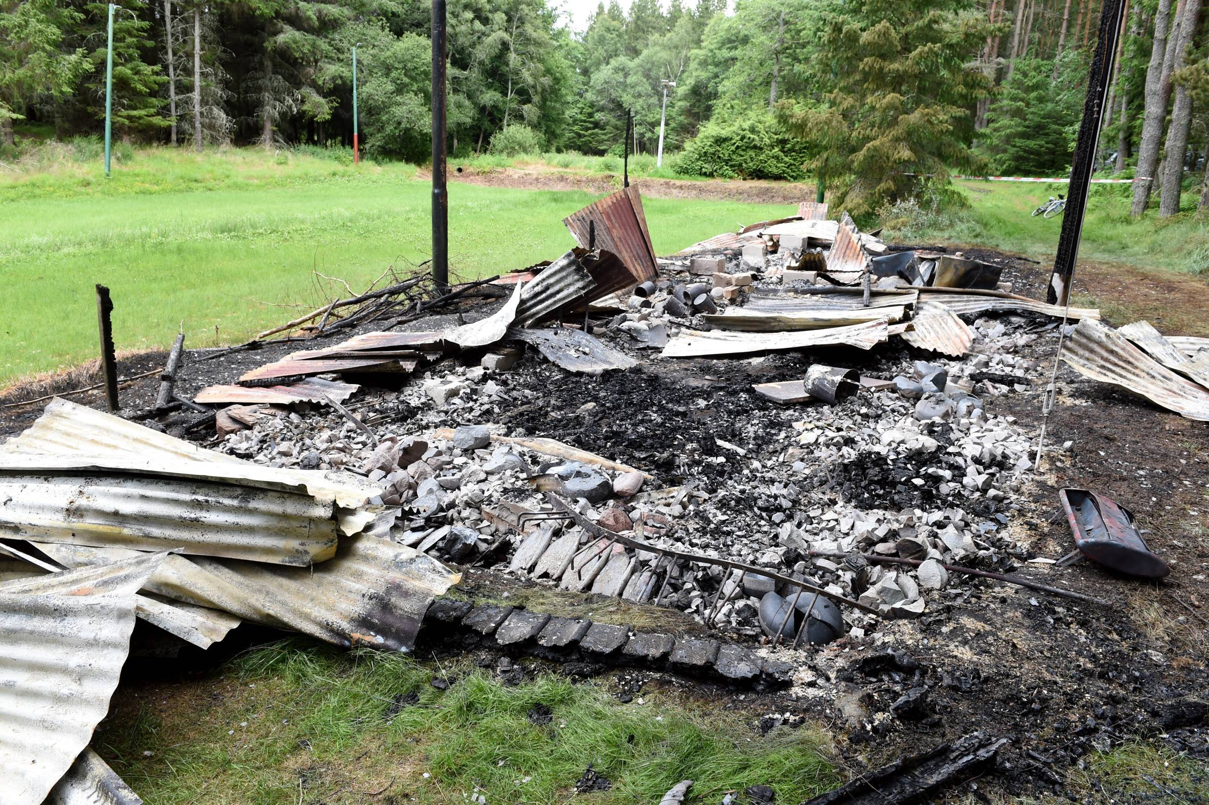 A fire destroyed the Vale of Alford Curling Club clubhouse.