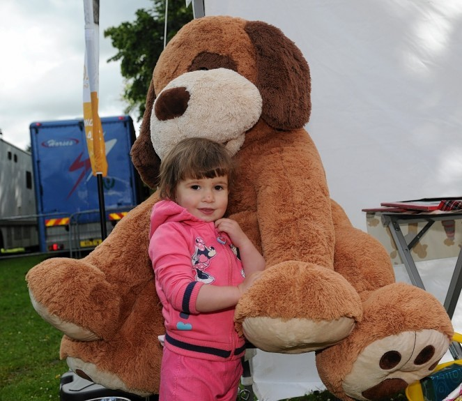 Catriona Mareque-Wilson with giant dog Mutley.