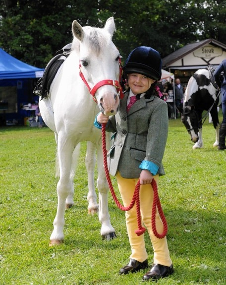 Iona Wynne with her pony Minty.