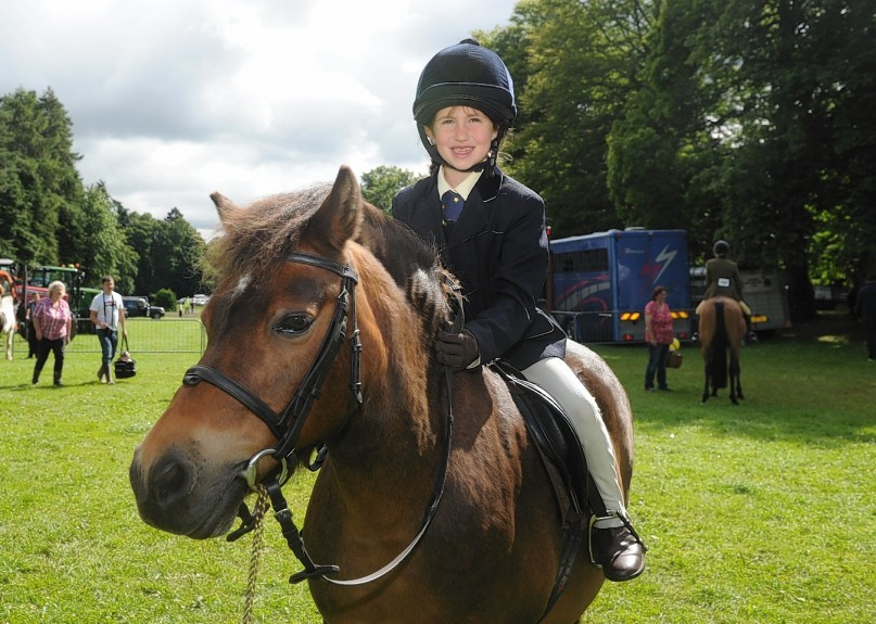 Abi Watson with her pony Joey.