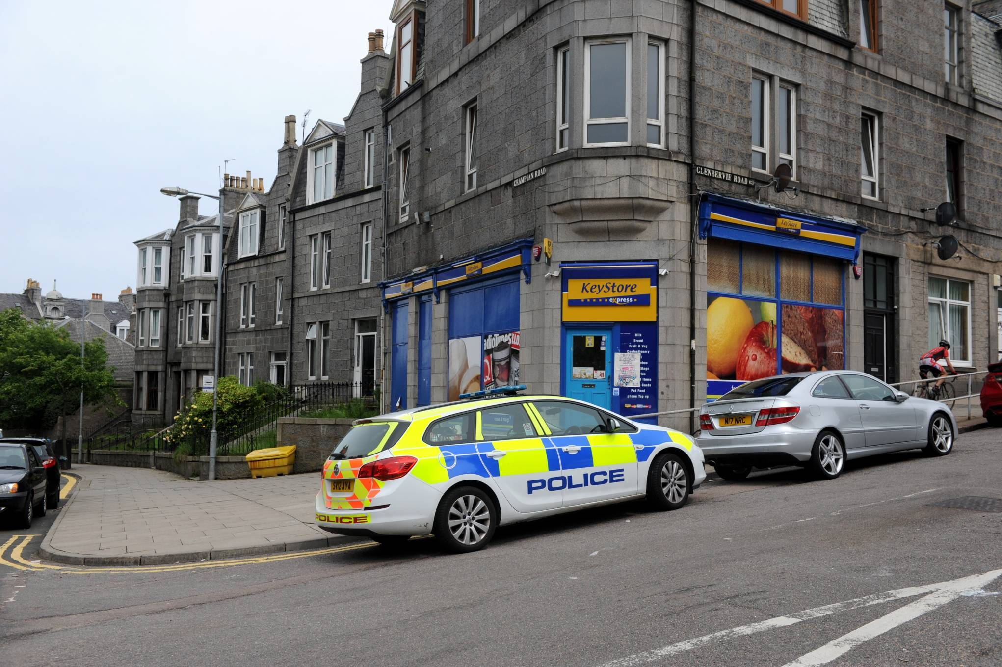 Officers in Torry following the alleged incident.