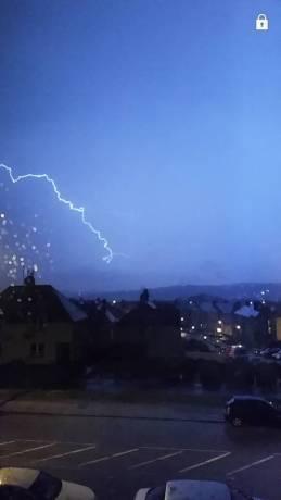 Lightning over Middlefield. Picture by Julie Barron