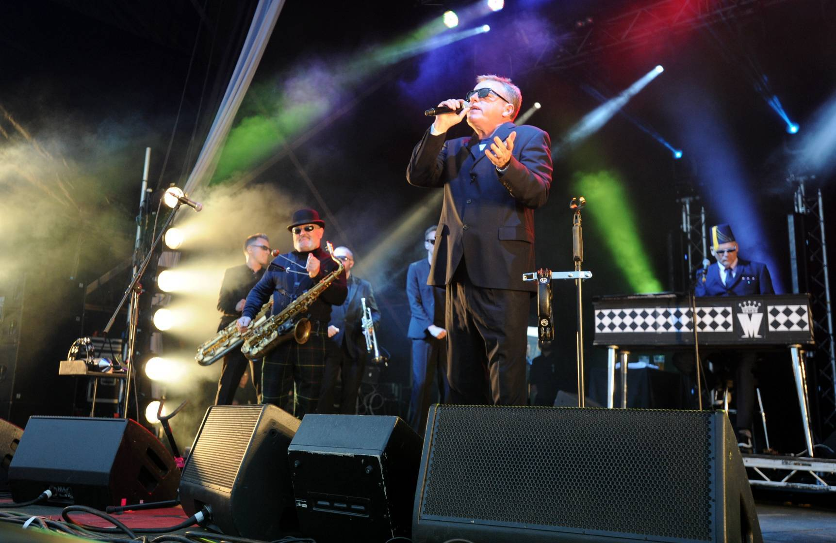 Madness frontman Suggs entertains the Montrose crowd.